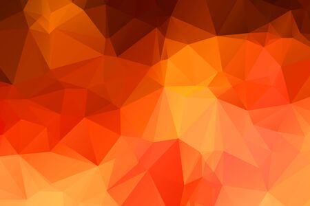 Abstract multicolor orange background. Vector polygonal design illustration
