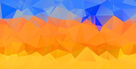 Abstract multicolor orange son background. Vector polygonal design illustration