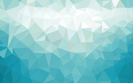 Fondo abstracto de baja poli de triángulos en colores azules