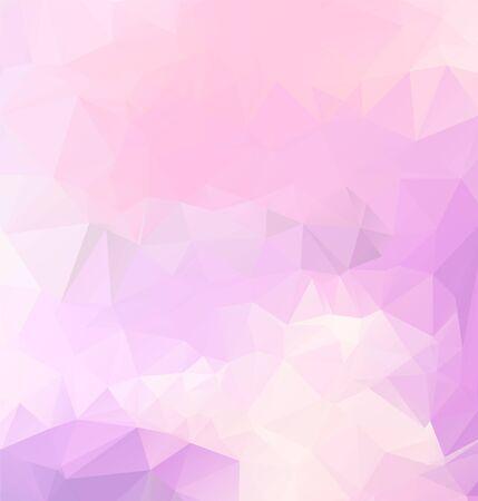 Telón de fondo abstracto de polígono de vector púrpura claro. Poligonal con degradado. Patrón de textura para tus fondos