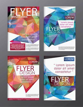Layout design template Annual Report Flyer Leaflet Modern background. illustration vector polygon Vecteurs