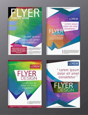 Plantilla de diseño de diseño Folleto de volante de informe anual Fondo moderno. polígono de ilustración vectorial Ilustración de vector