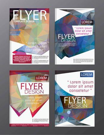 Layout design template Annual Report Flyer Leaflet Modern background. illustration vector polygon Illustration