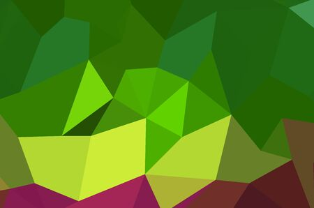 Gradient Green vector shining triangular layout. Glitter abstract illustration