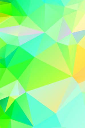 抽象绿色生动的墙纸马赛克背景。几何三角形
