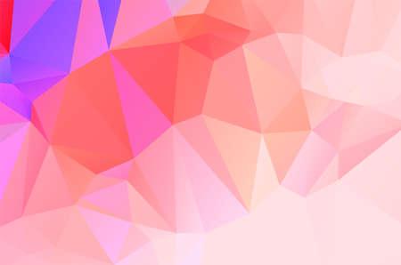 Abstract triangulation geometric purple and orange background