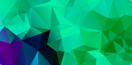 Green vivid geometric abstract bright green blurred mosaic wallpaper with triangle shapes for banner Illustration