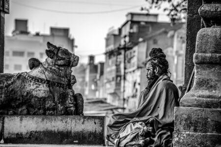 sadhu: A sadhu peacefully doing his meditation.
