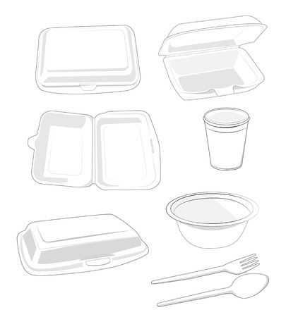 synthetic:  Food Packaging white on white