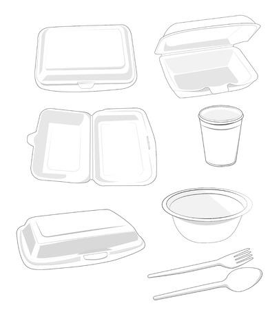 polystyrene:  Food Packaging white on white