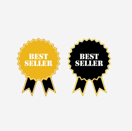 the seller: Best Seller Medal. Best Seller Emblem. Best Seller Badge Illustration