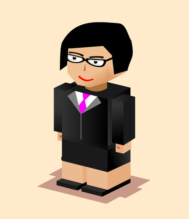 Business woman character illustration. Flat design. Business woman working. Vector