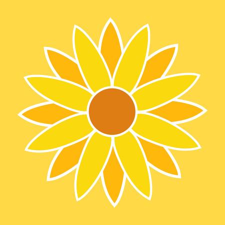 sunflower: Sunflower Illustration. Sunflower Symbol. Sunflower Sign. Illustration
