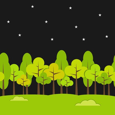 night background: Landscape Seamless Background. Night background.