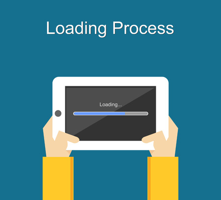 install: Loading process concept illustration.