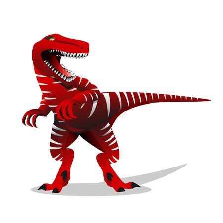 Dinosaur illustration. T rex dinosaur vector illustration.