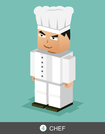 character illustration: Chef character illustration. Chef profession illustration. Illustration