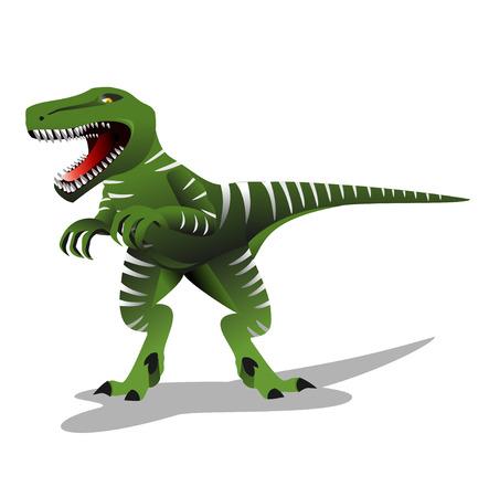 t rex: Dinosaur illustratie. T rex dinosaurus vector illustratie. Tyrannosaurus.