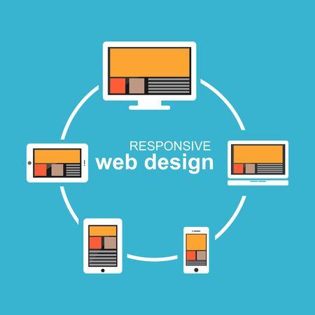 bootstrap: Responsive web design illustration. Flat design. Banner illustration. Illustration