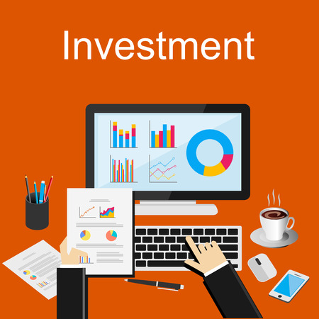 consulting business: Investment illustration.  Illustration