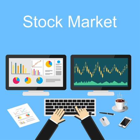 trades: Stock market illustration. Illustration