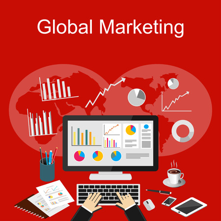 Global marketing illustration.