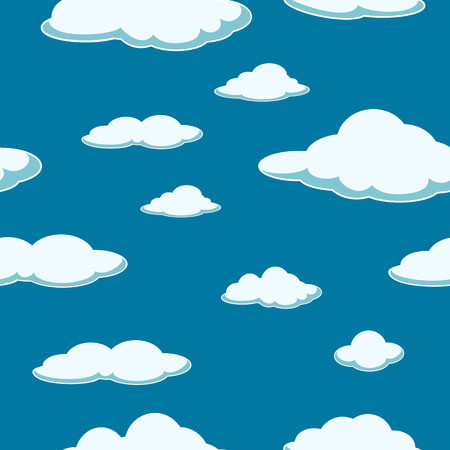 blue clouds: Sky seamless background. Cloud seamless background. Good day. Clear. Blue Clouds.