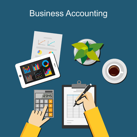 taxes budgeting: Business accounting concept.