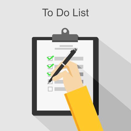 exploratory: To do list illustration. Illustration