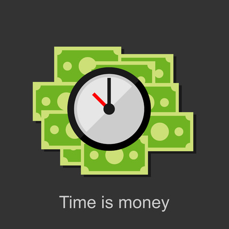 time money: Time is money illustration.