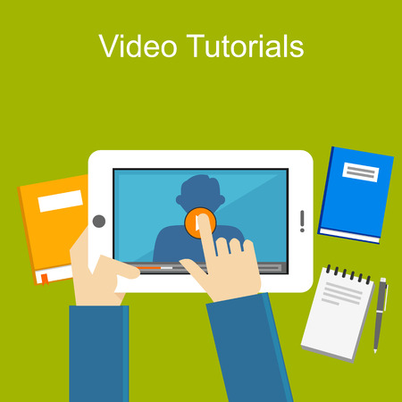 Video tutorials illustration.