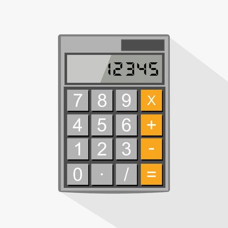 Calculator flat design illustration. Illustration