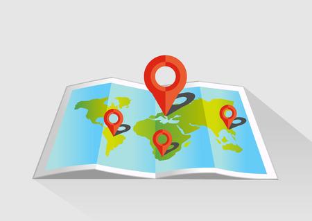Map pointer illustration.