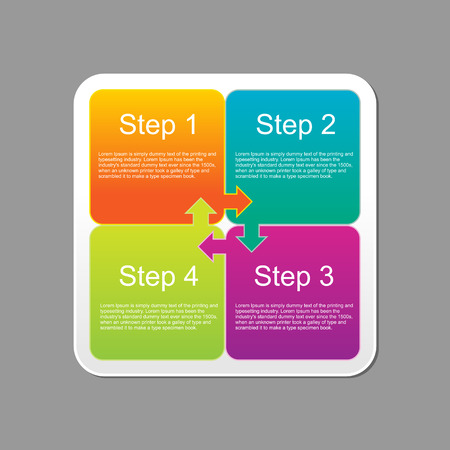 instruction manual: Progress steps infographics design template. Illustration