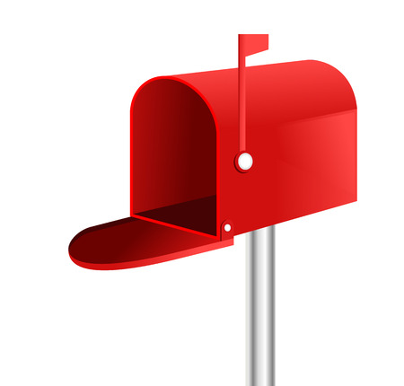 3D mailbox vector.