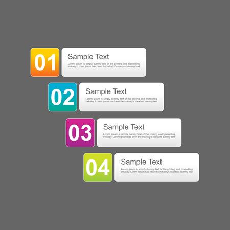 progress steps: Progress steps infographics design template. Illustration