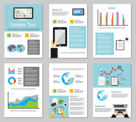 business planning: Business infographic elements. Business background. Brochure templates. Set of flyer design template.