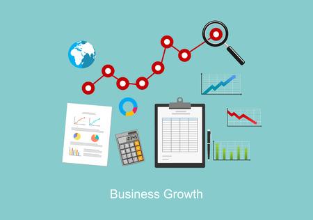 contabilidad financiera: El crecimiento del negocio concepto de ilustración. Vectores