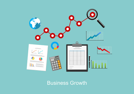 Business growth concept illustration. Stock Illustratie