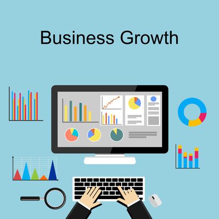 Business growth concept illustration.  イラスト・ベクター素材