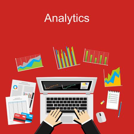 Analytics concept illustration. Business background.