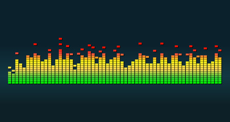 Graphic equalizer vector illustration. Illusztráció