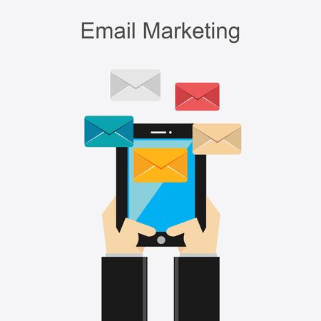 email marketing: Email marketing concept illustration.
