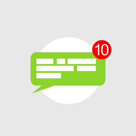submit: Chat notifications icon concept.
