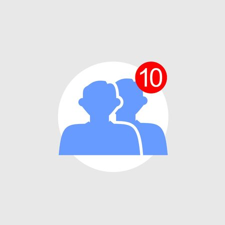 notify: Friend requests icon concept.