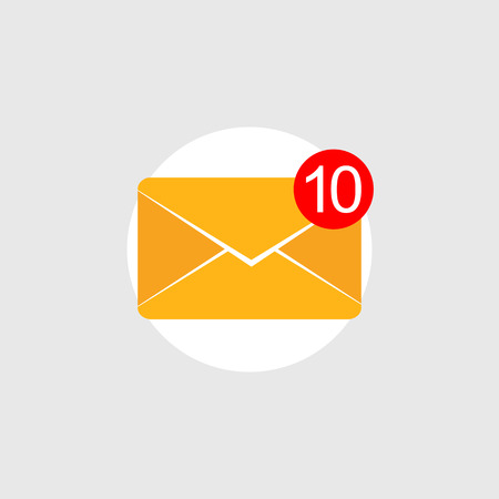 active content: Message notifications icon concept. Inbox messages. Illustration