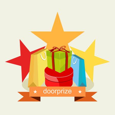 Door prize. Prize Gift concept.