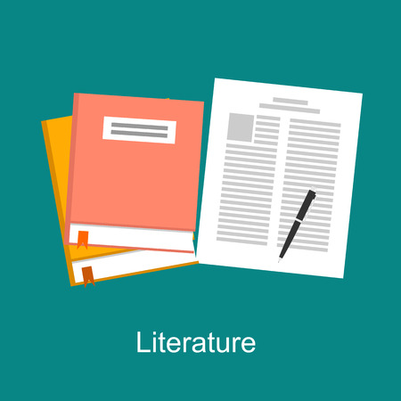 Literature illustration concept. Flat design. Illustration