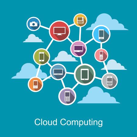 cloud technology: Cloud computing technology concept.