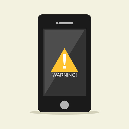 symbol vigilance: Warning notification on mobile phone.